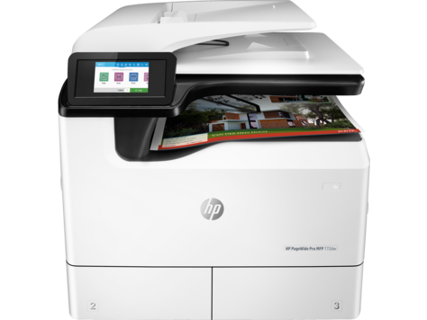 HP PageWide Pro 772dw Color Inkjet MFP, New (W1B31A)