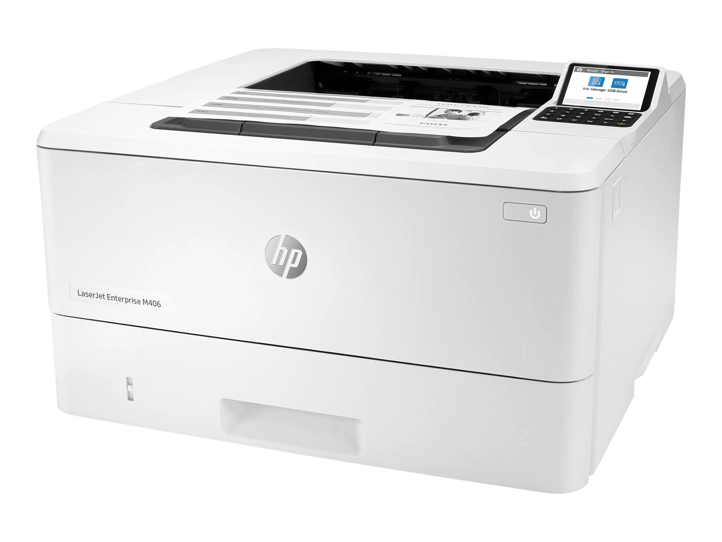 HP LaserJet Enterprise M406dn Mono Laser Printer, New (3PZ15A)