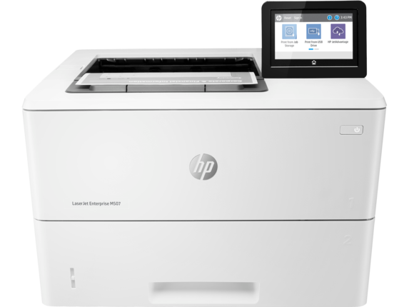 HP LaserJet Enterprise M507dng Mono Laser Printer, New (1PV89A)