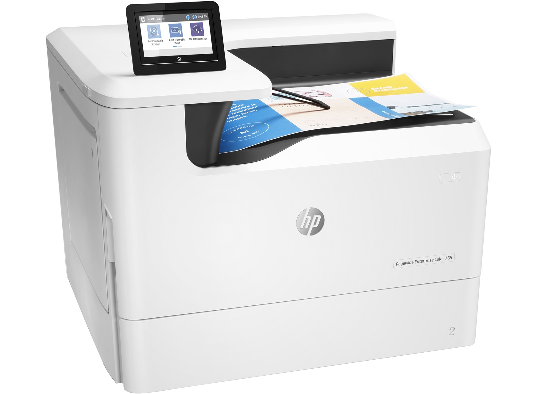 HP PageWide Enterprise Color 765dn Color Laser Printer, New (J7Z04A)
