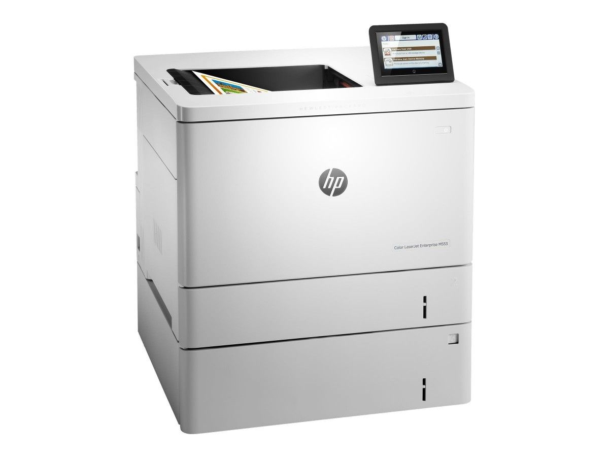 HP Color LaserJet Managed M553xm Color Laser Printer, Refurbished (B5L39A)