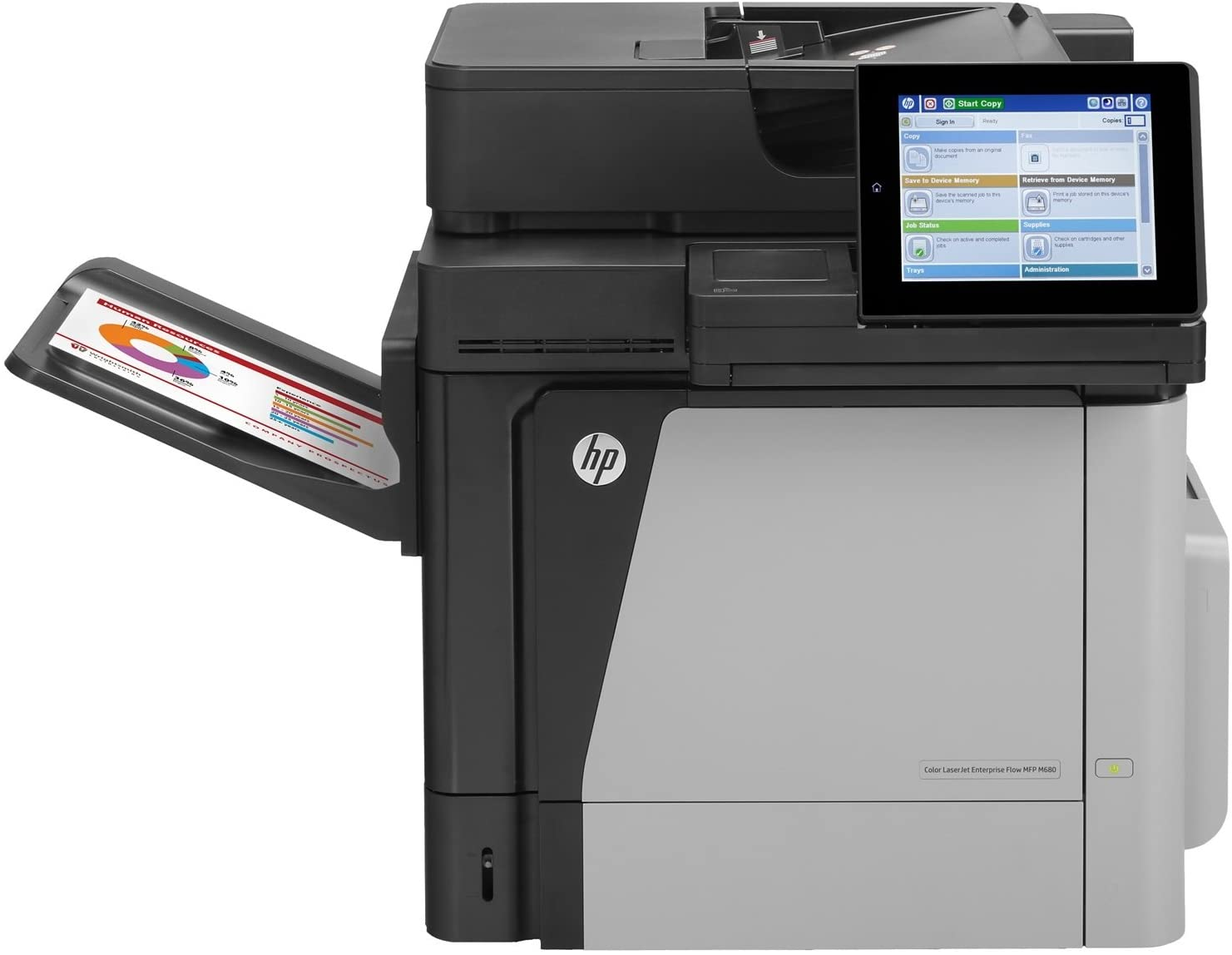 HP Color LaserJet Managed M680dnm Color Laser MFP, Refurbished (L3U47A)