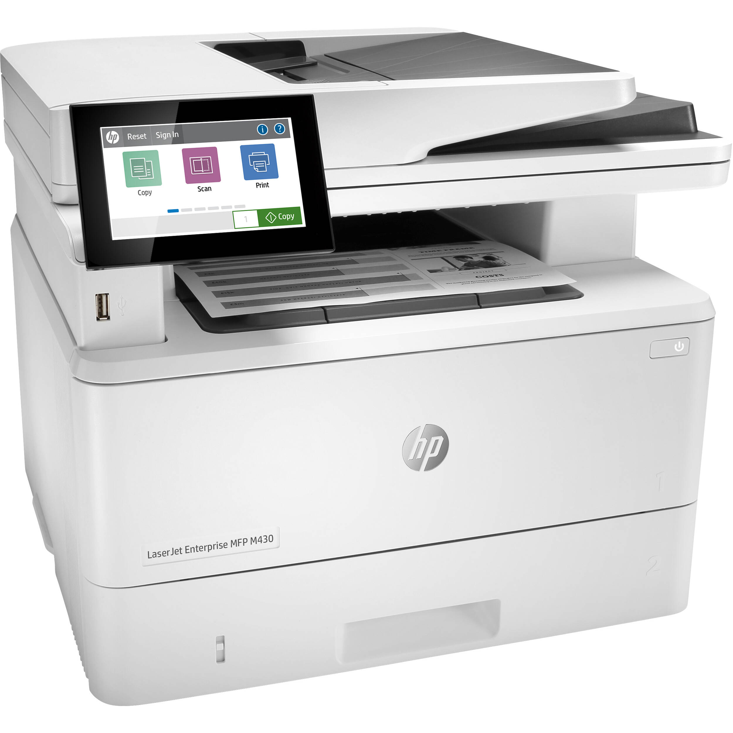 HP LaserJet Enterprise MFP M430f Mono Laser Printer, Demo (3PZ55A)