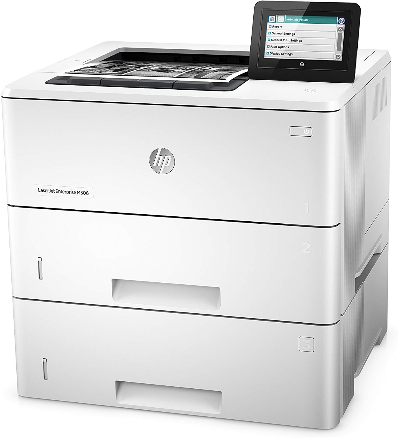 HP LaserJet Managed M506xm Mono Laser Printer, Refurbished (F2A67A)