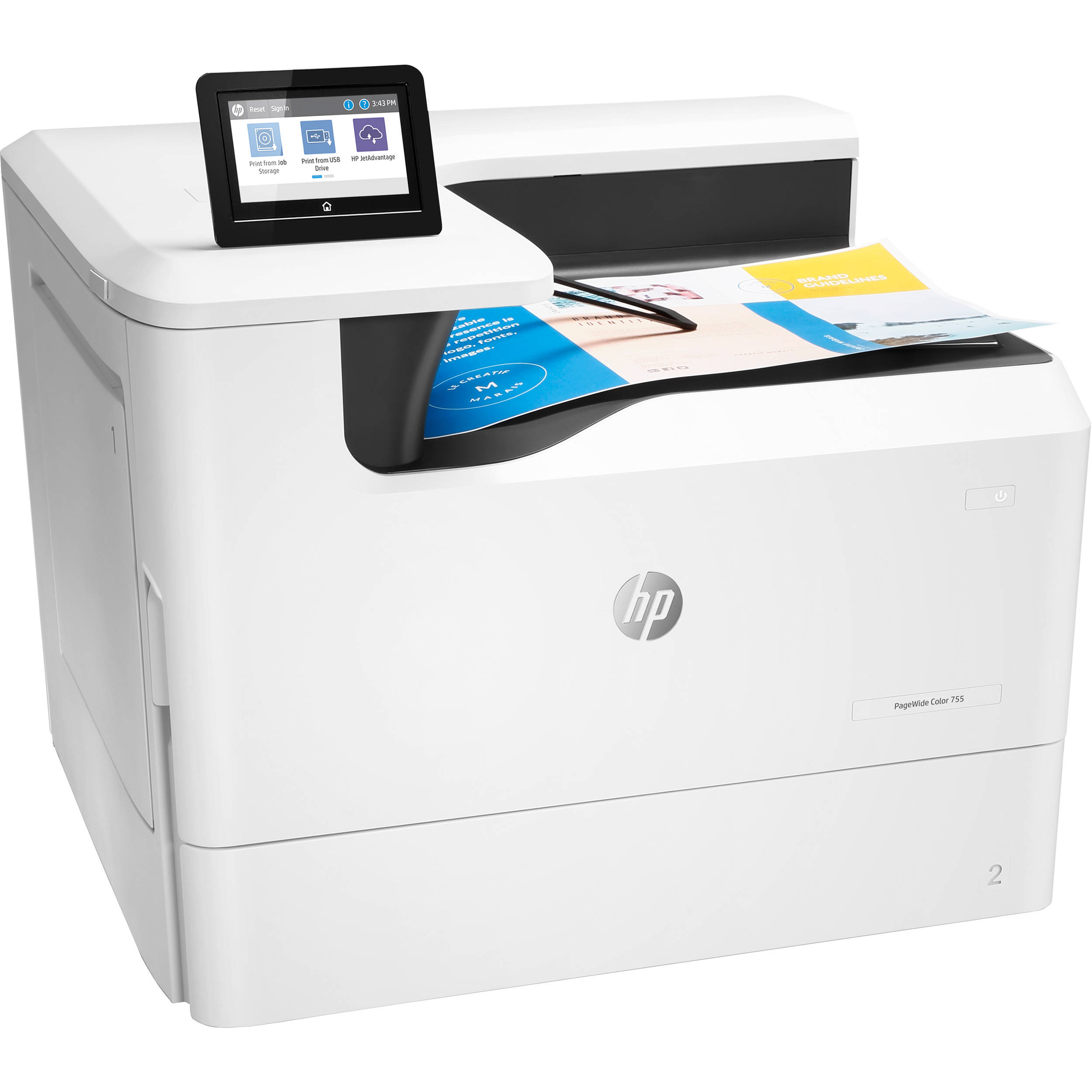 HP PageWide Color 755dn Color Laser Printer, Refurbished (4PZ47A)