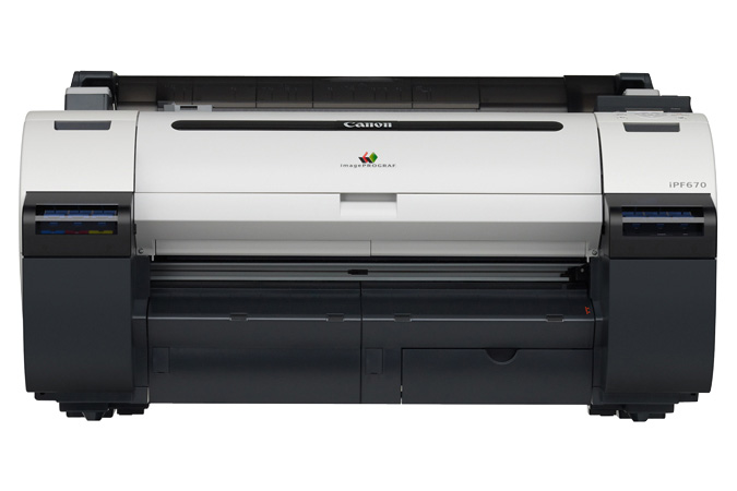 Canon imagePROGRAF iPF670 Color Plotter, New (9854B005)