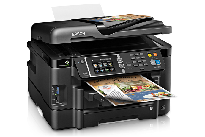 Epson WorkForce WF-3640 Color Inkjet MFP, Refurbished (C11CD16201)